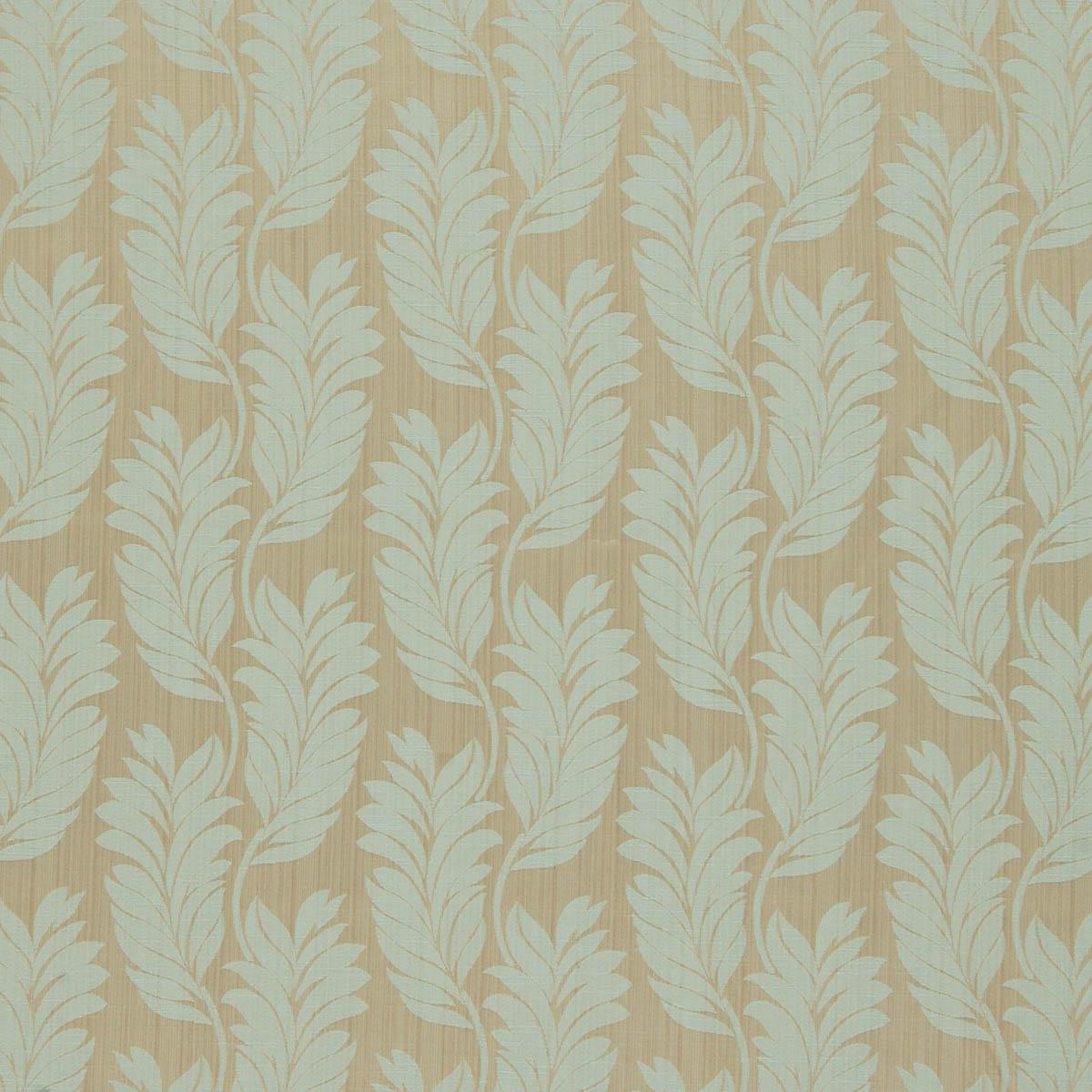 Trevi Jacquard Curtain Fabric Duck Egg Free UK Delivery