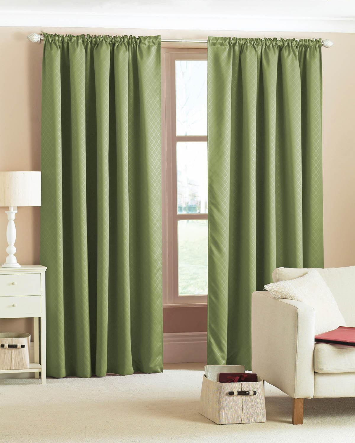 Navy curtains blackout - Diamond Woven Blackout Curtains