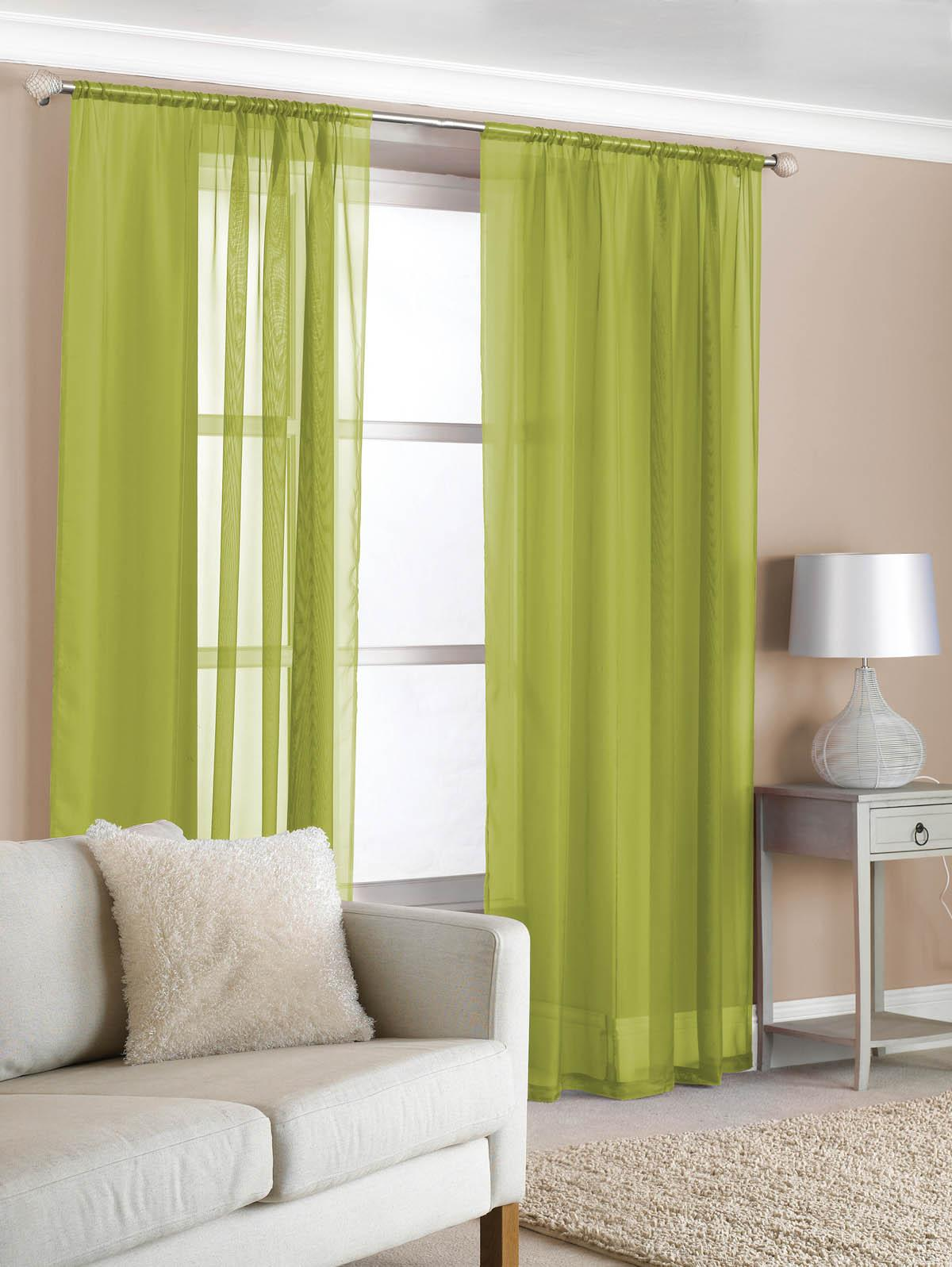 slot top voile pair olive cheap green curtain voile