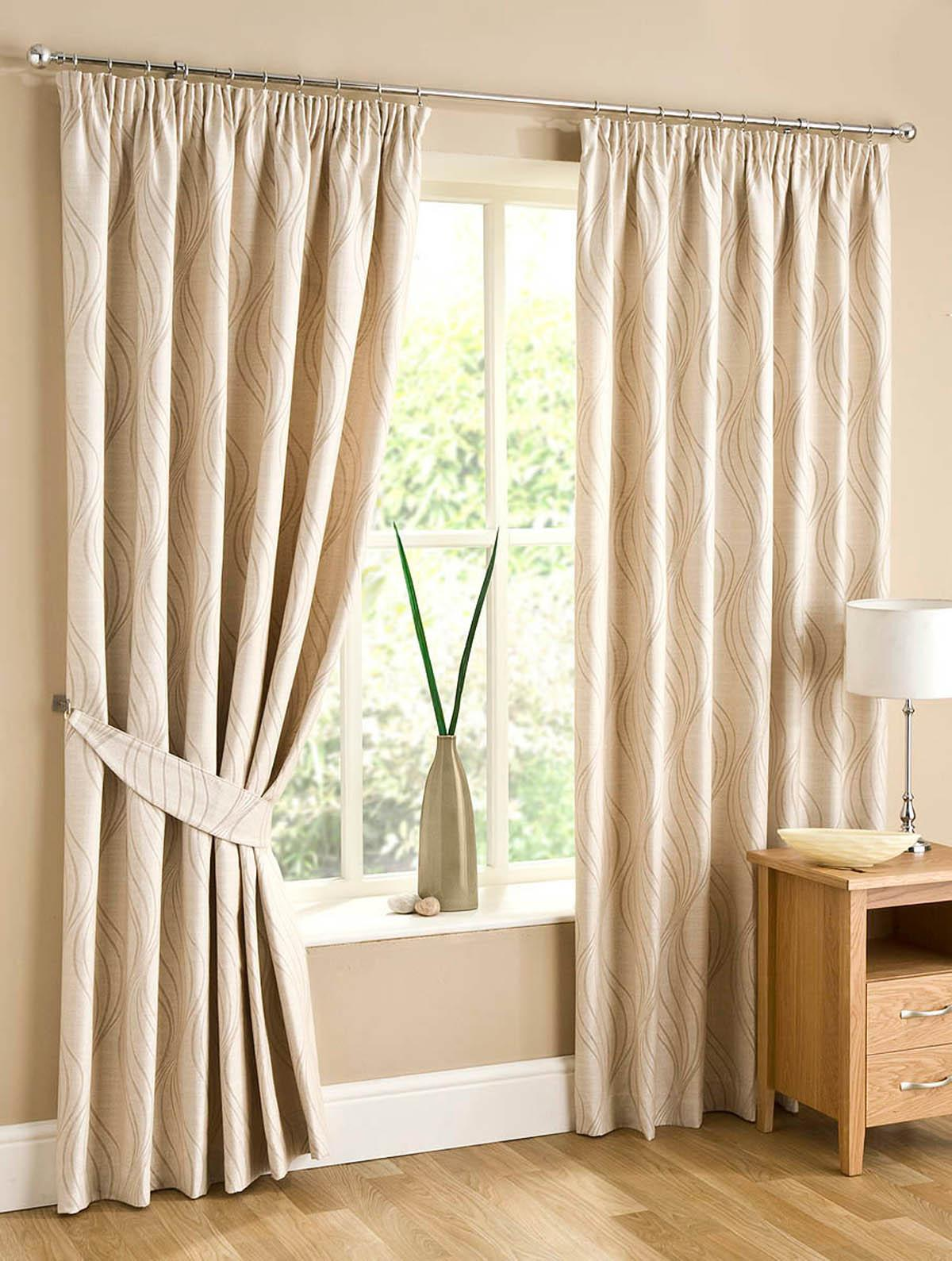 natural swirl lined ready made curtains free uk delivery. Black Bedroom Furniture Sets. Home Design Ideas