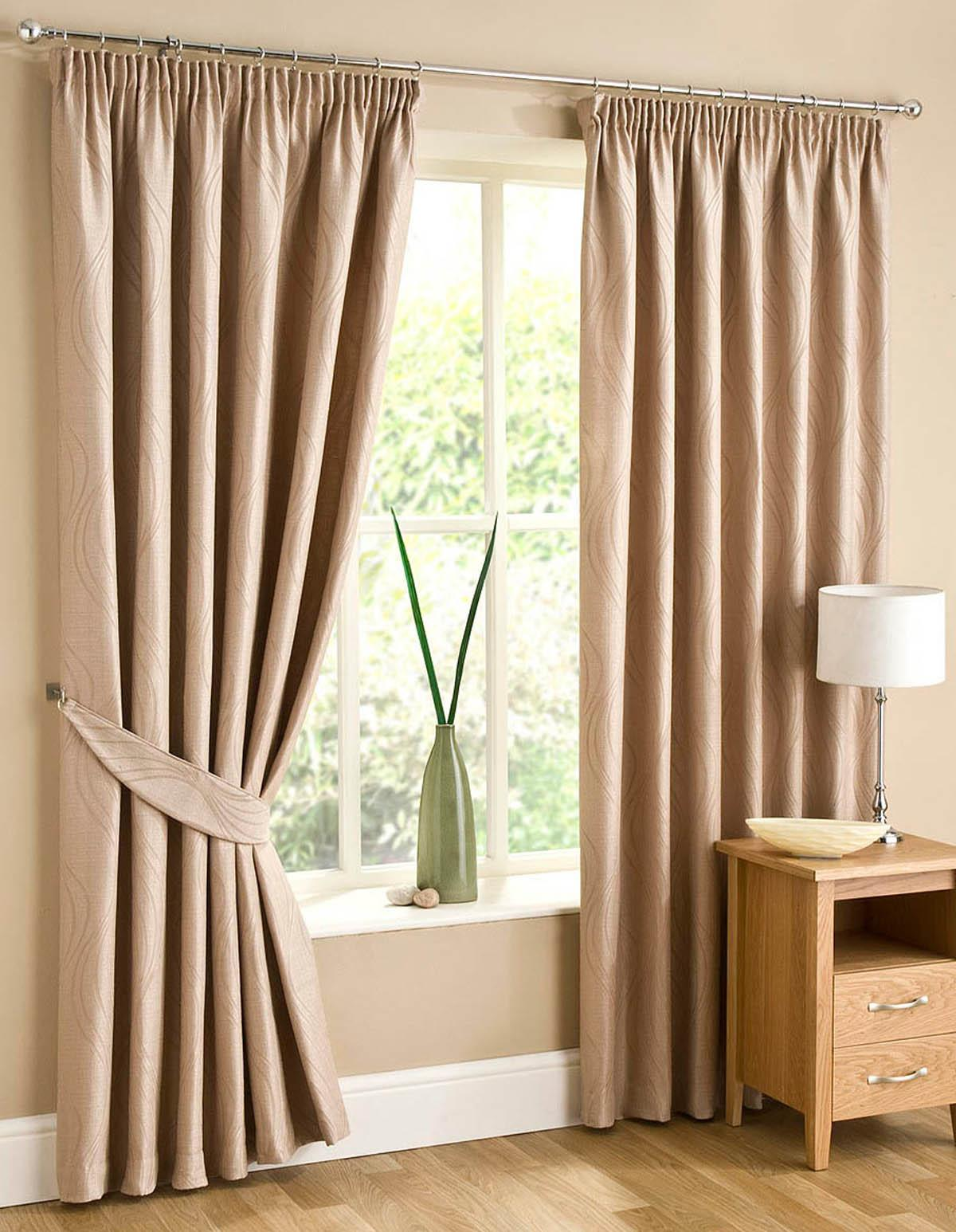 Sand Swirl Lined Ready Made Curtains
