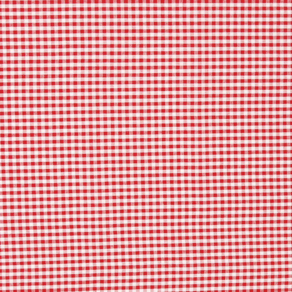 Mini Vichy 9273 Curtain Fabric Rouge Free UK Delivery Terrys