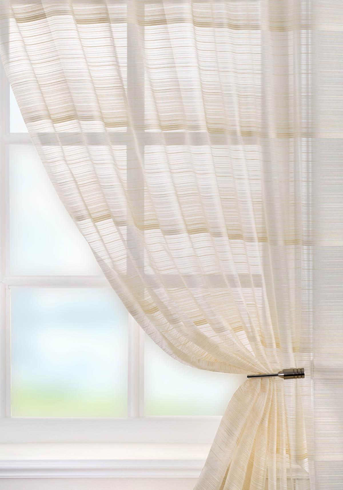 Voile curtain panel brown cheap green curtain voile uk delivery - Creamfrom 13 99