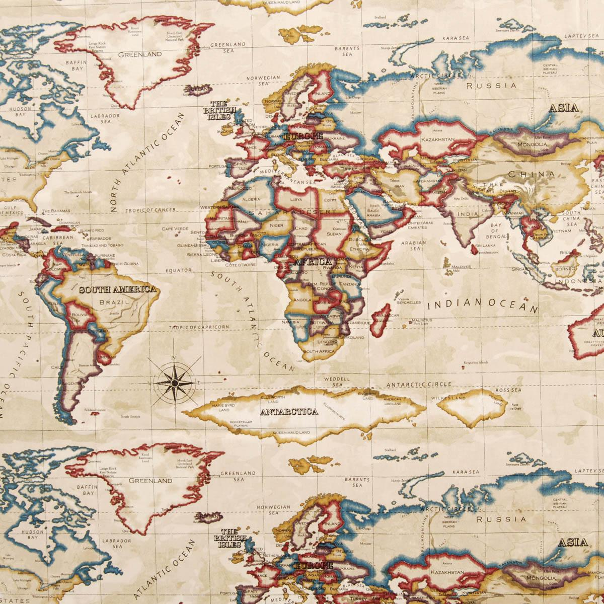 Popular 194 list map fabric atlas fabric antique cheap printed curtain fabric uk delivery gumiabroncs Choice Image