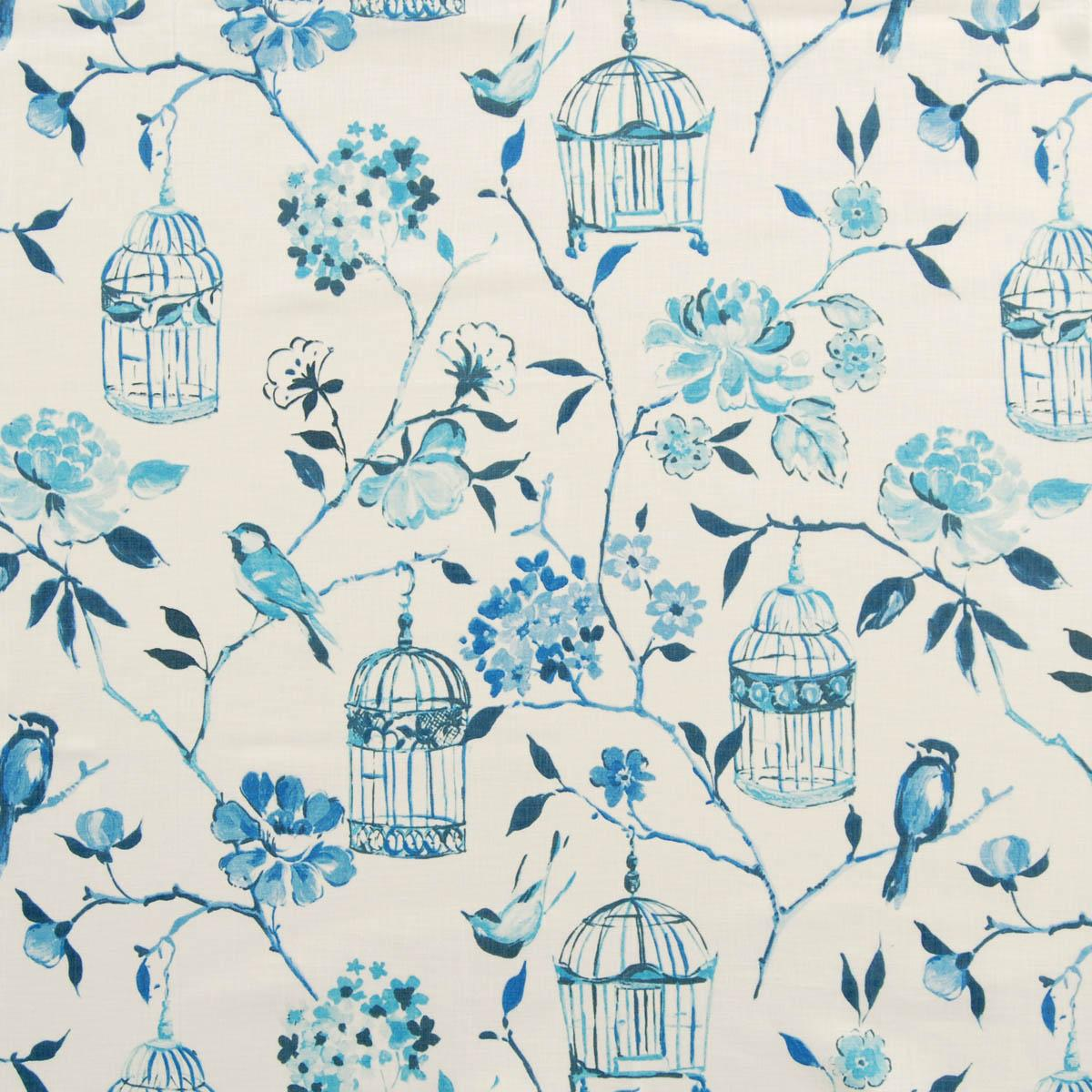 Geisha Curtain Fabric Lulworth Blue | Free UK Delivery | Terrys ...