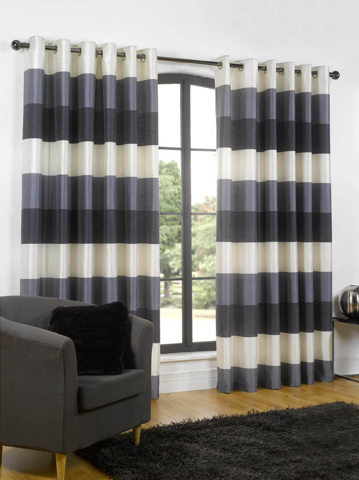 Rio Eyelet Lined Curtains Navy Free UK Delivery Terrys