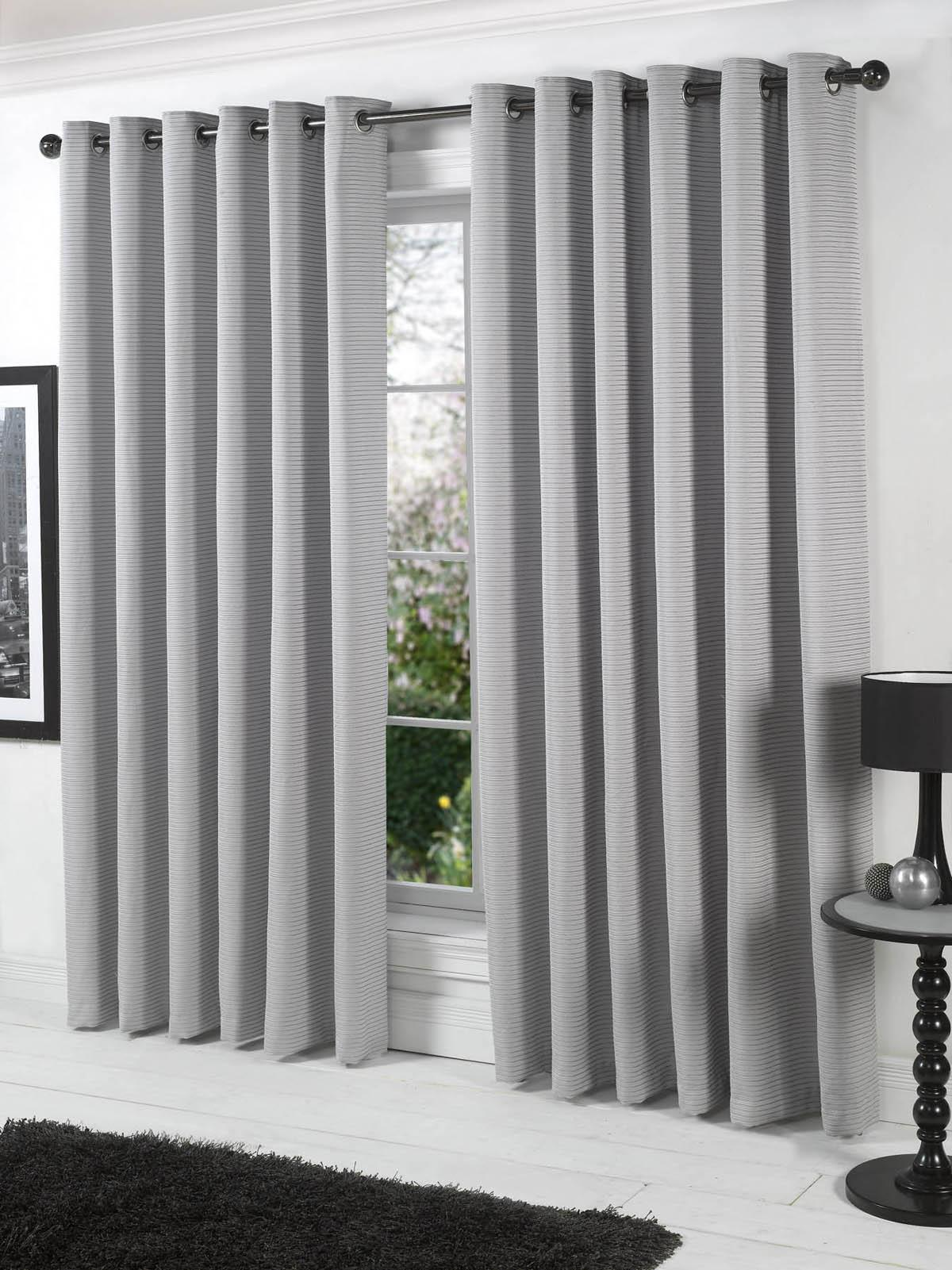 Cheap grey curtains - Cheap Grey Curtains Stella Lined Eyelet Ready Made Curtains