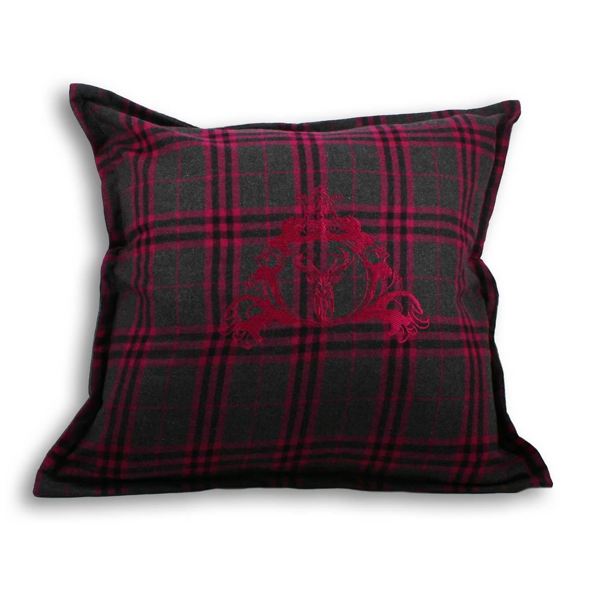 Zermatt Stag Cushion Fuchsia Free UK Delivery Terrys