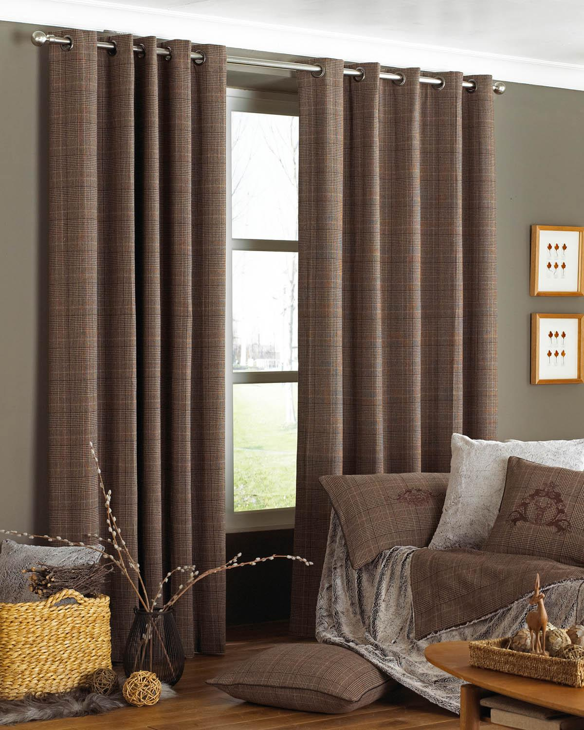 Courcheval Ready Made Eyelet Curtains