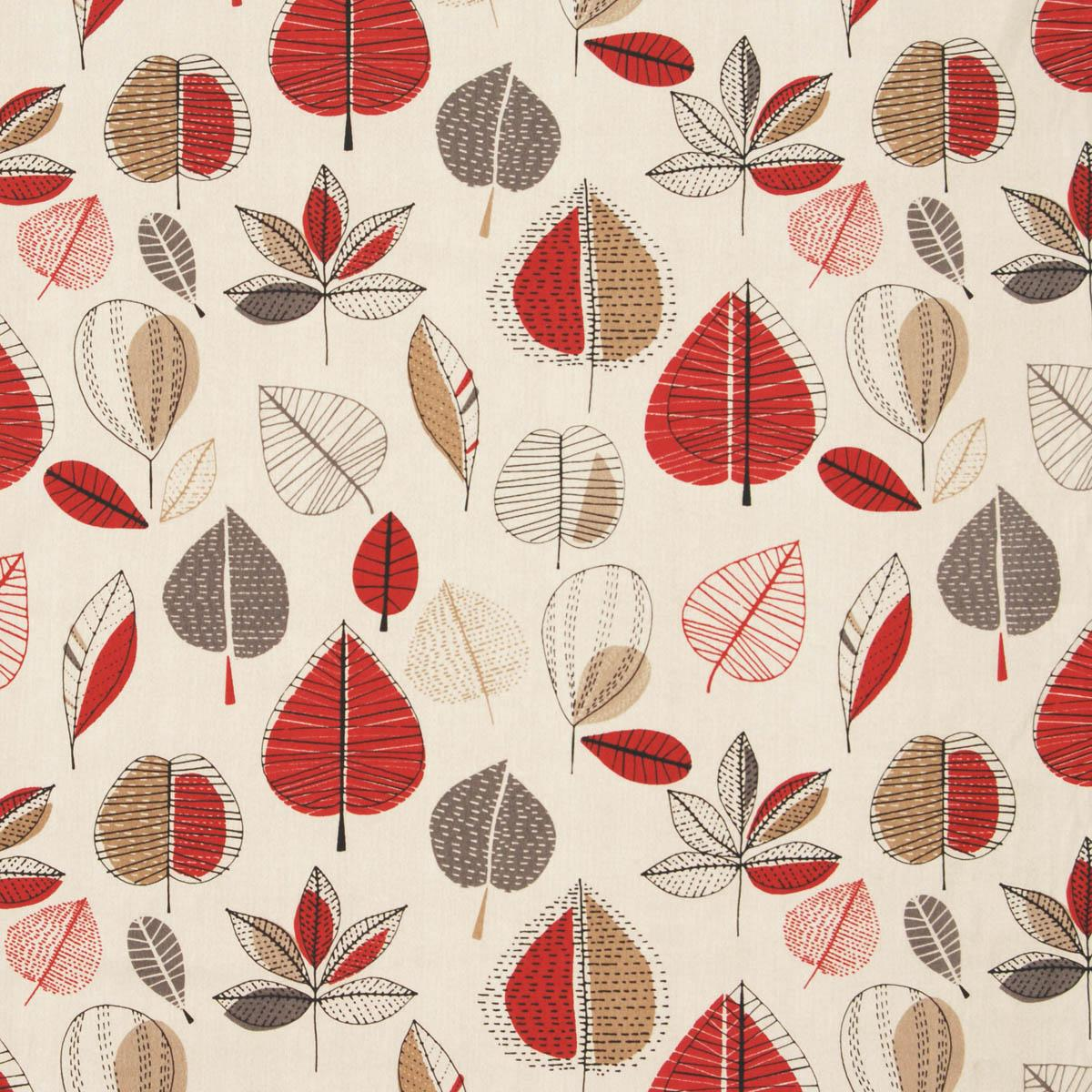 Maple Curtain Fabric Red Berry Cheap Printed Curtain