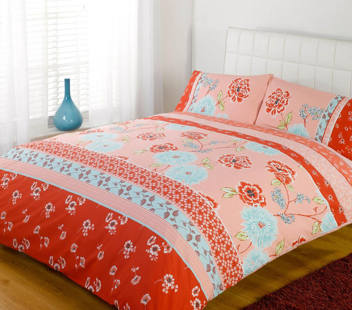 lola duvet cover set red  free uk delivery  terrys fabrics - lola printed duvet cover set