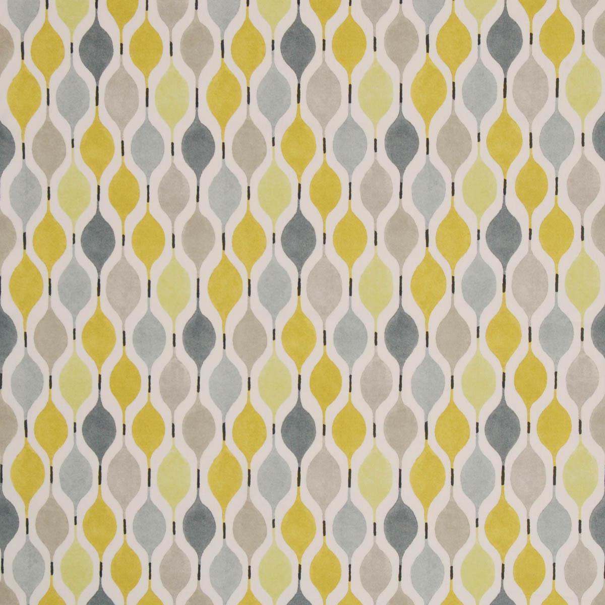 Yellow fabric shower curtain - Verve Curtain Fabric Mimosa Cheap Printed Curtain Fabrics Uk