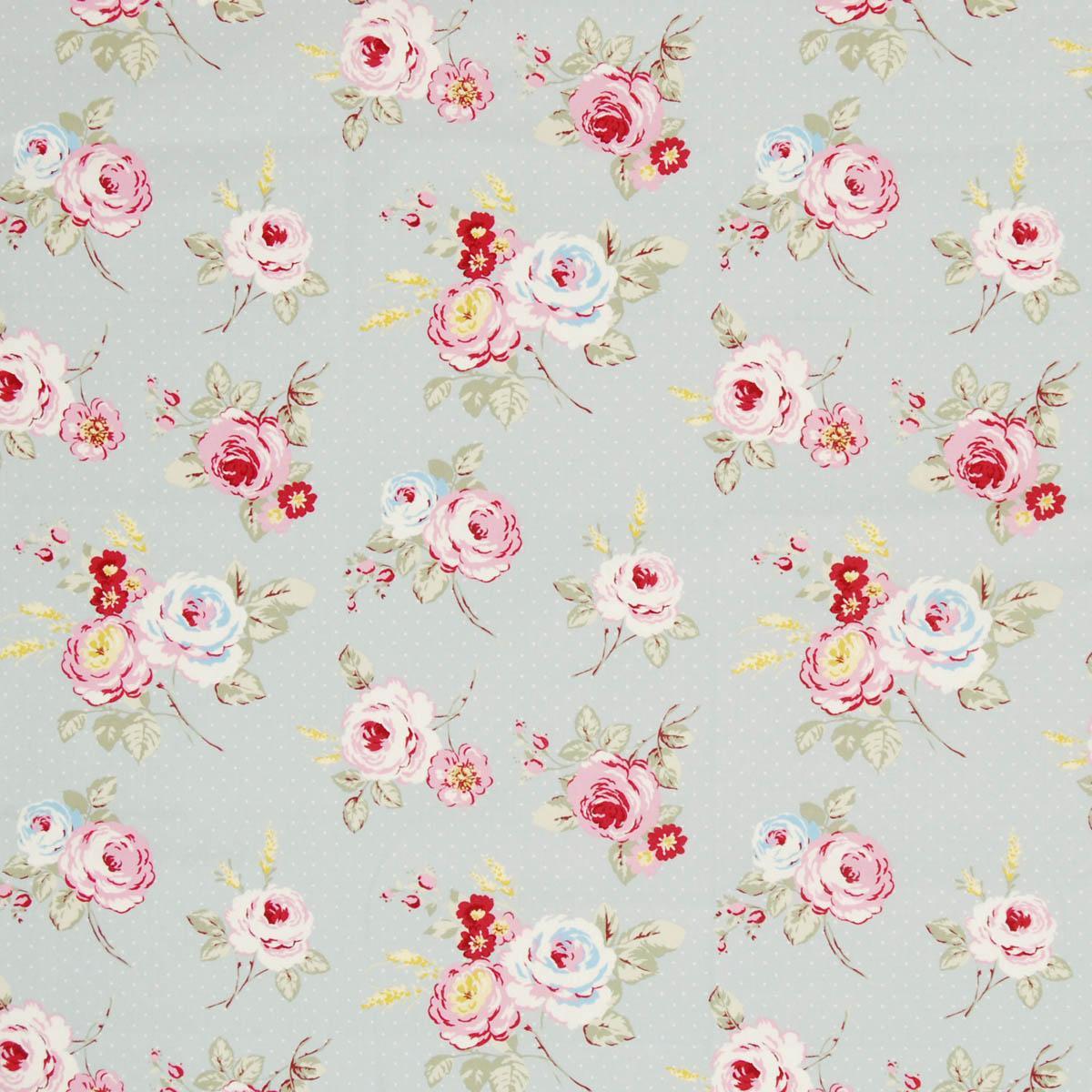 english rose curtain fabric grey   free uk delivery   terrys fabrics