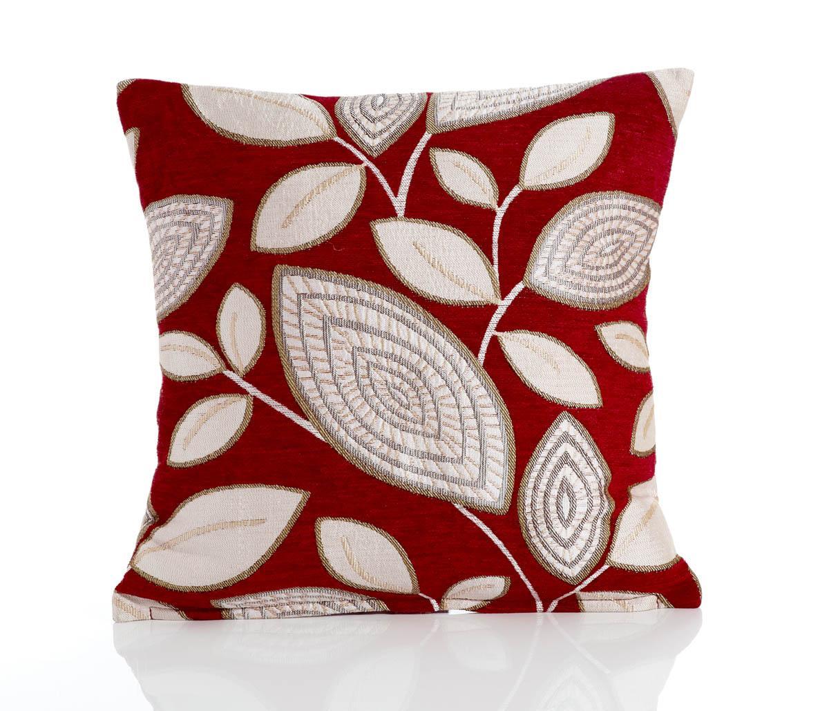 Red London Leaf Filled Cushion