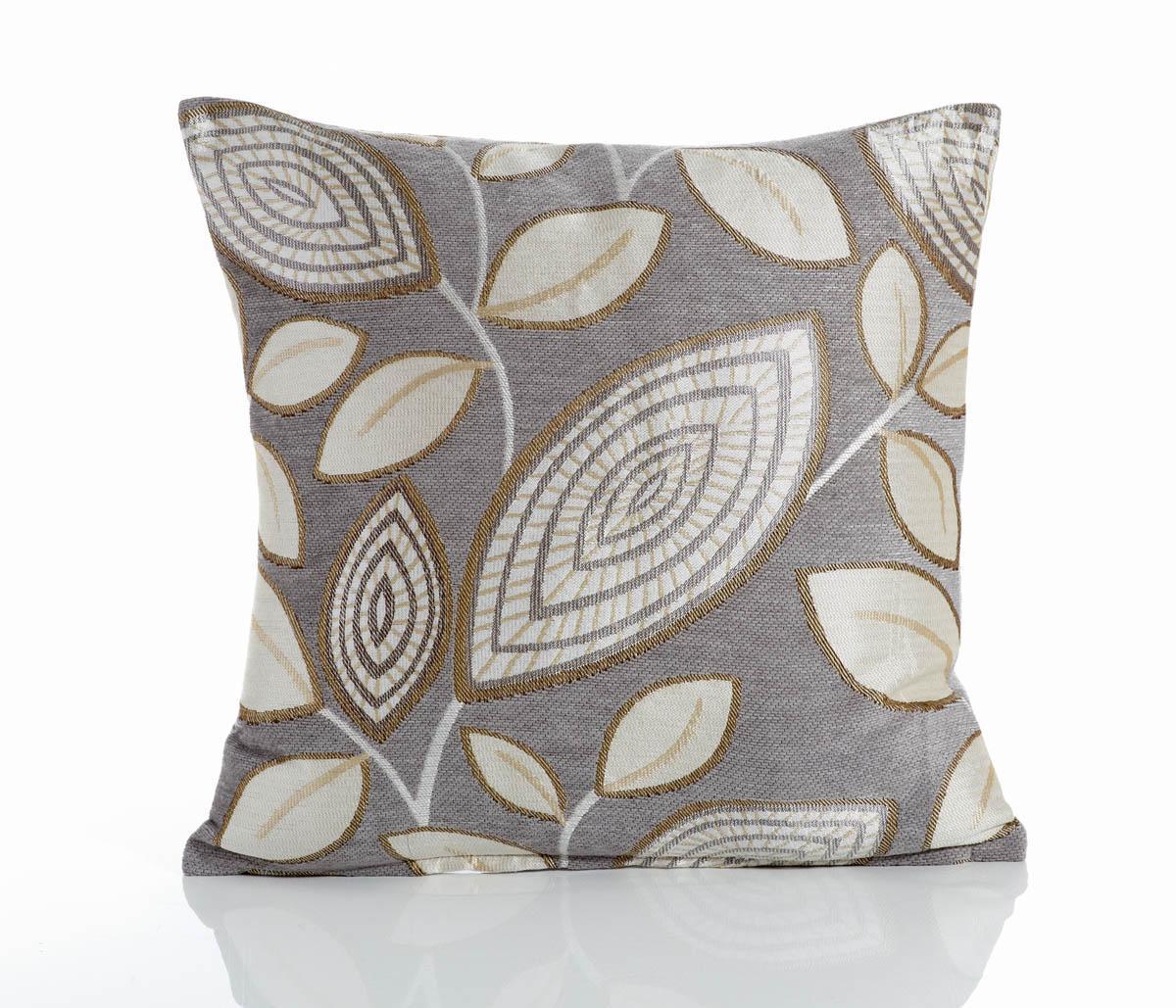 Silver London Leaf Filled Cushion