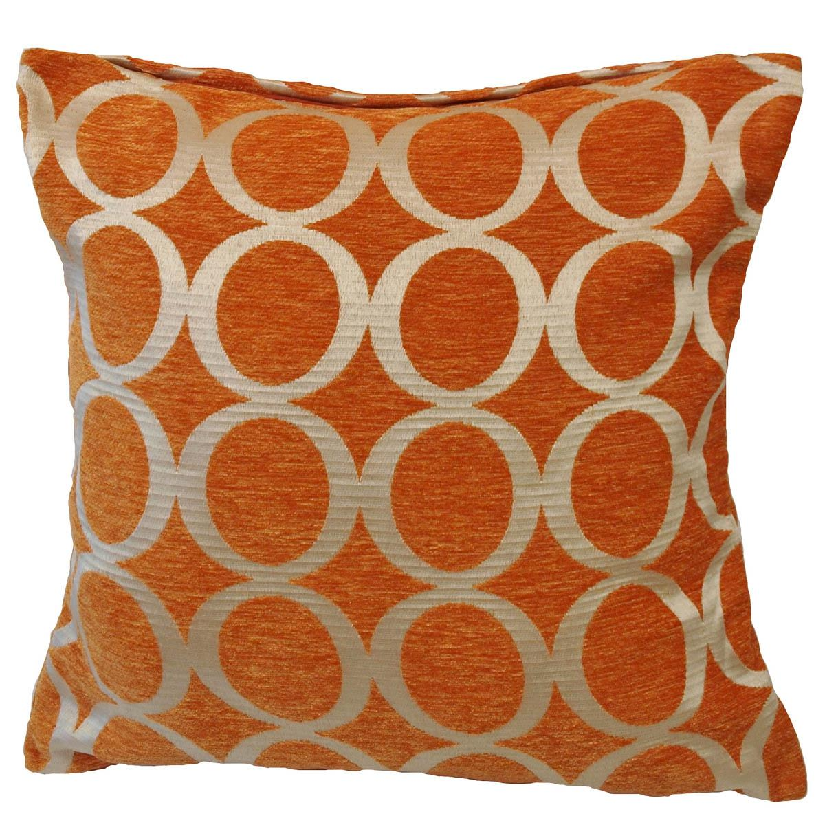 Oh filled cushion orange cheap cushions throws uk delivery - Orange kitchen chair cushions ...