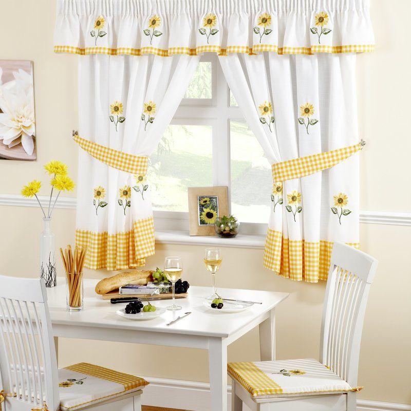 Wonderful Sunflowers Kitchen Curtains