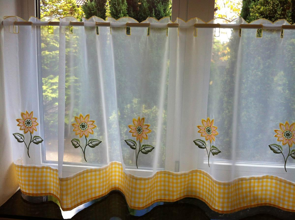 Yellow Gingham Kitchen Curtains Sunflowers Kitchen Curtains White Yellow Kitchen Homewares