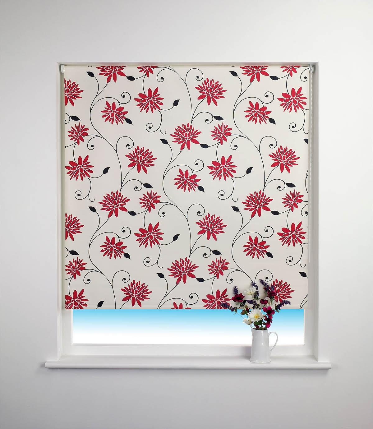Red Roller Blinds Kitchen Blackout 120cm Roller Blinds Cheap Blinds Available Terrys Fabrics