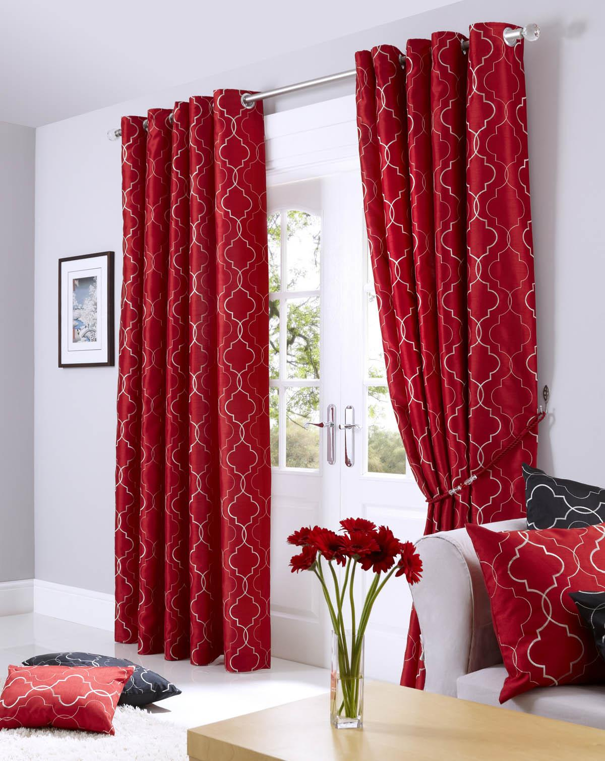 Living room curtains red - Midtown Eyelet Lined Curtains