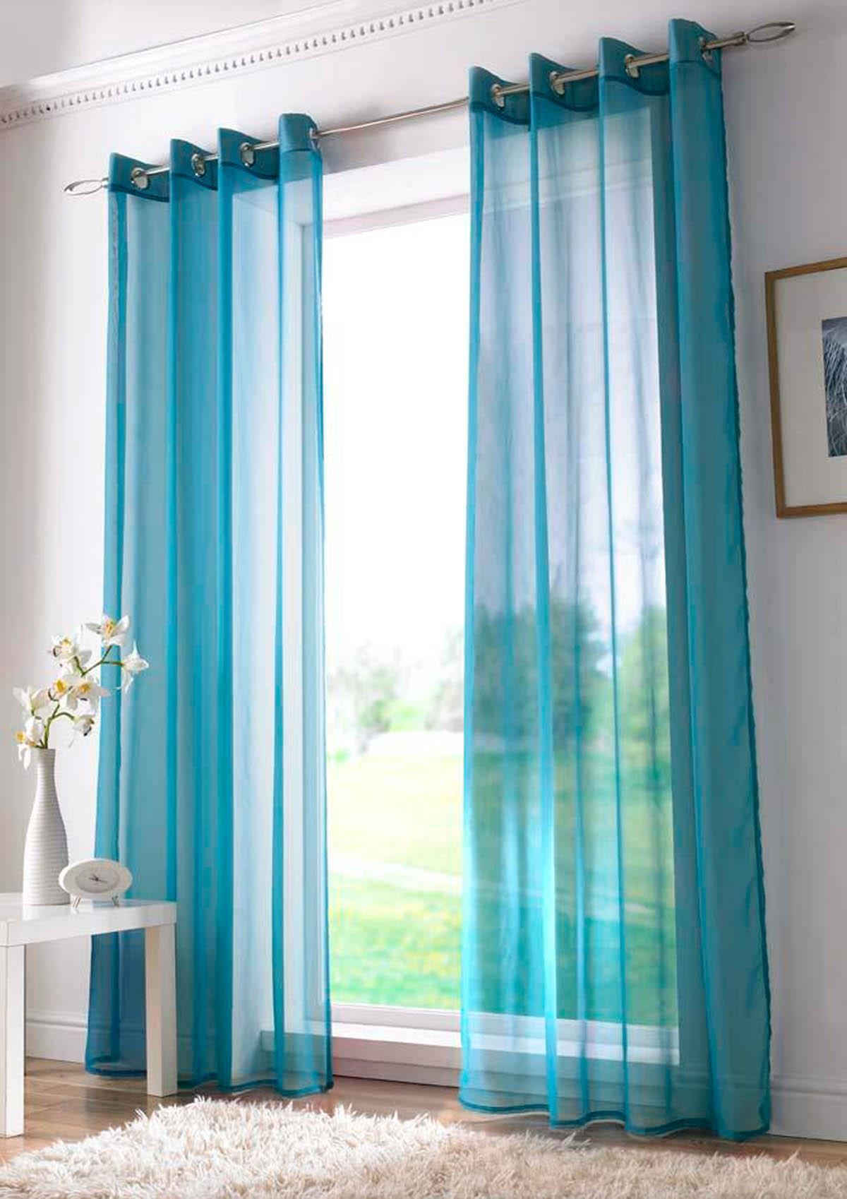 Voile curtain panel brown cheap green curtain voile uk delivery - Plain Ring Top Voile Panel