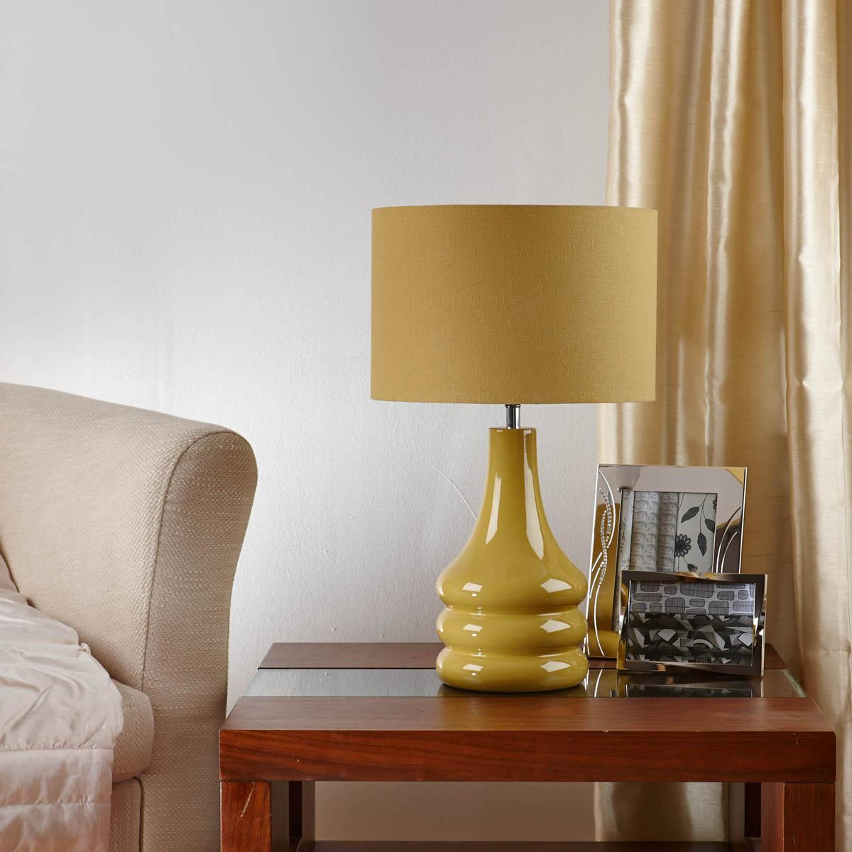 raj table lamp ochre free uk delivery terrys fabrics