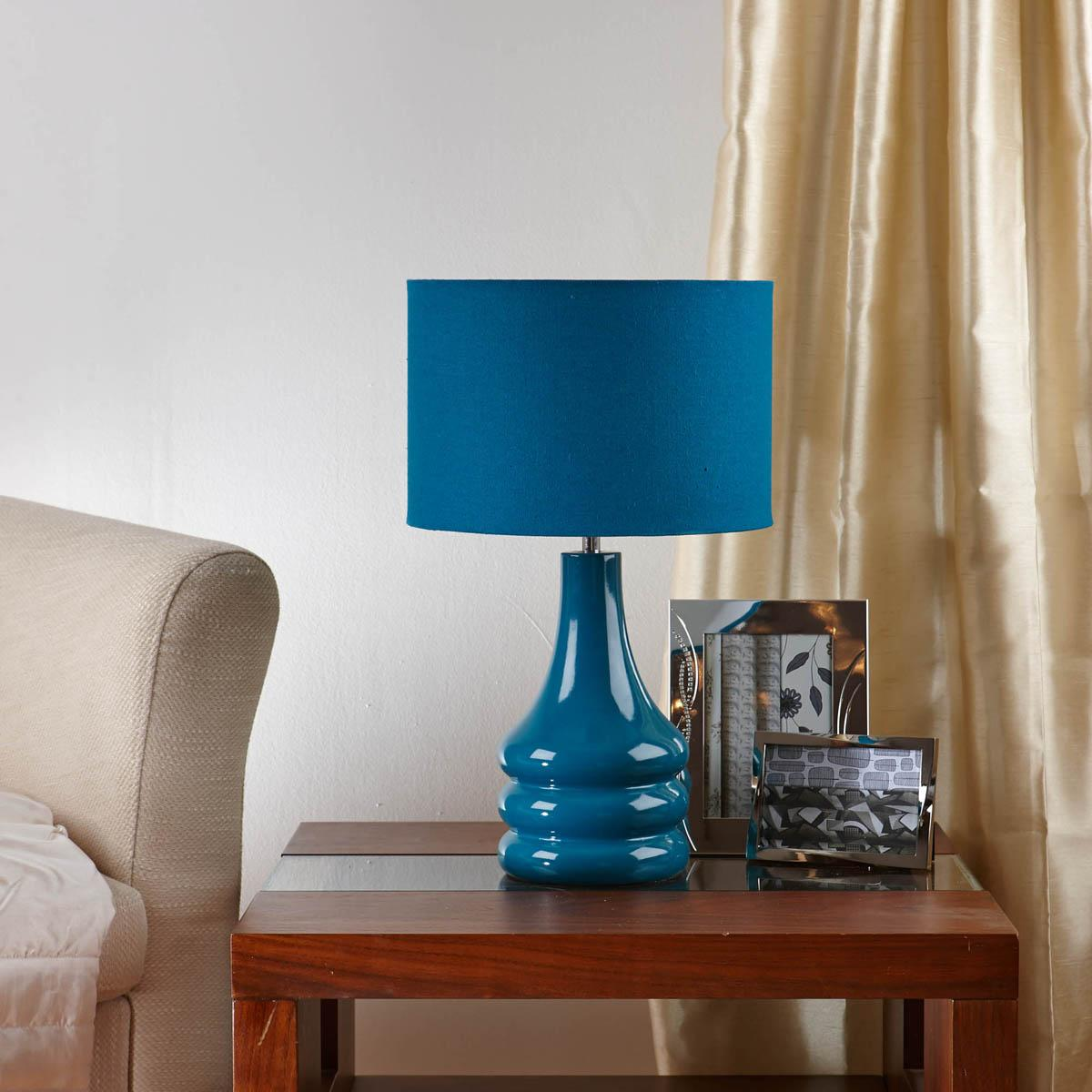 Raj Table Lamp Teal Lights Lamps Homewares Cheap UK Delivery