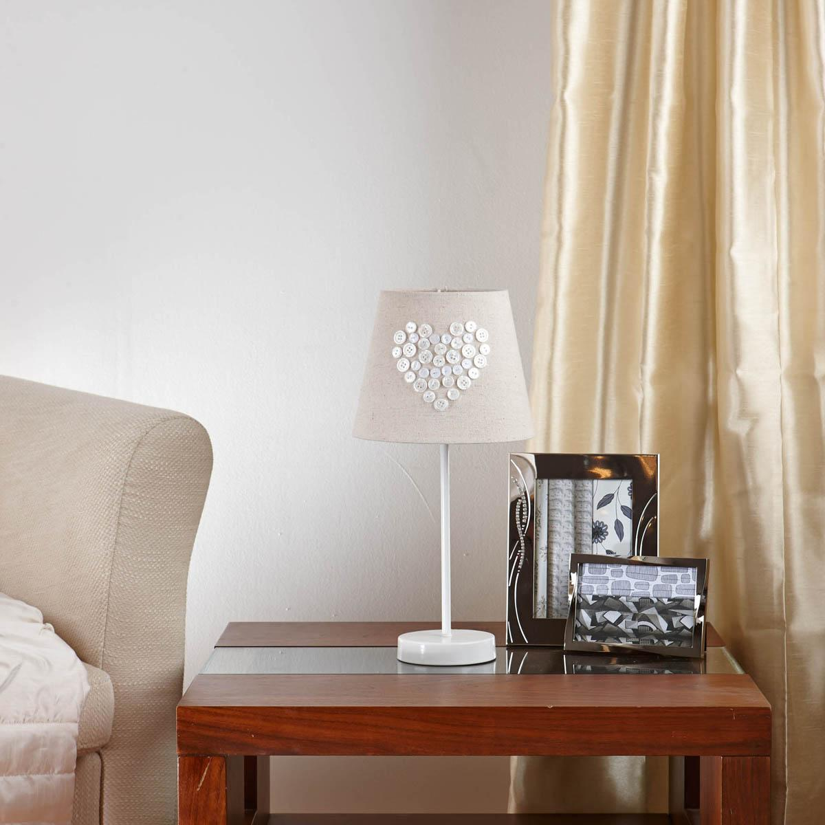 Cream Love Table Lamp