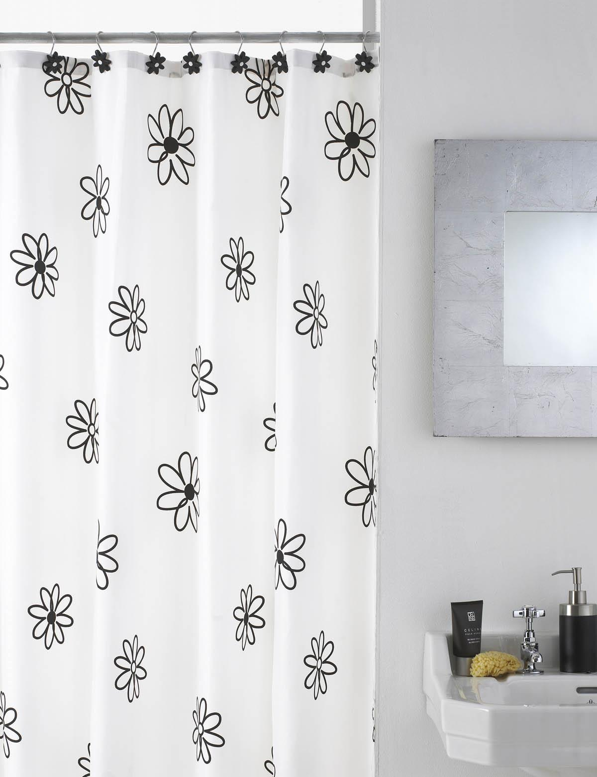 Floral Shower Curtain With Hooks Free UK Delivery Terrys Fabrics