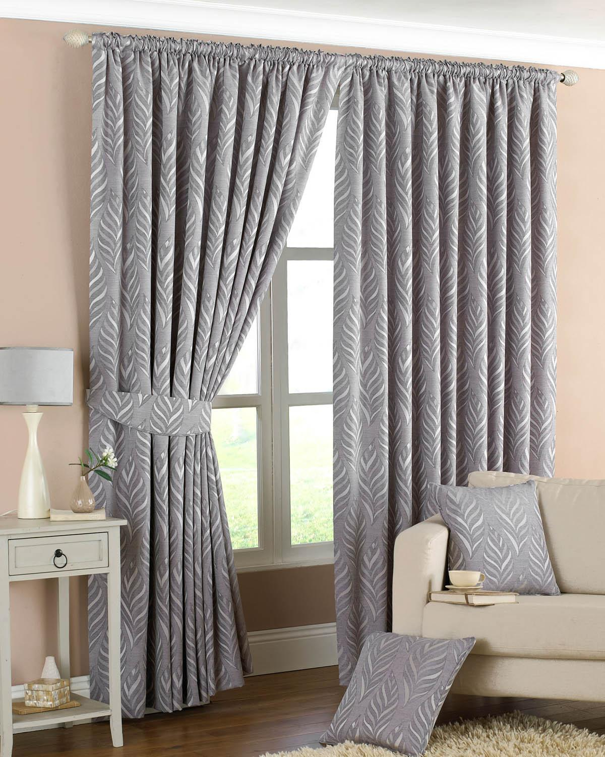 Cheap grey curtains - Cheap Grey Curtains Narrow Leaf Ready Made Lined Curtains