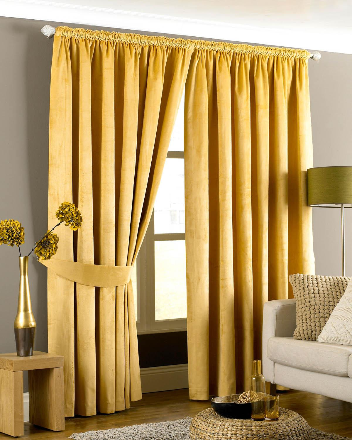 Emperor Ready Made Lined Curtains Gold Free UK Delivery