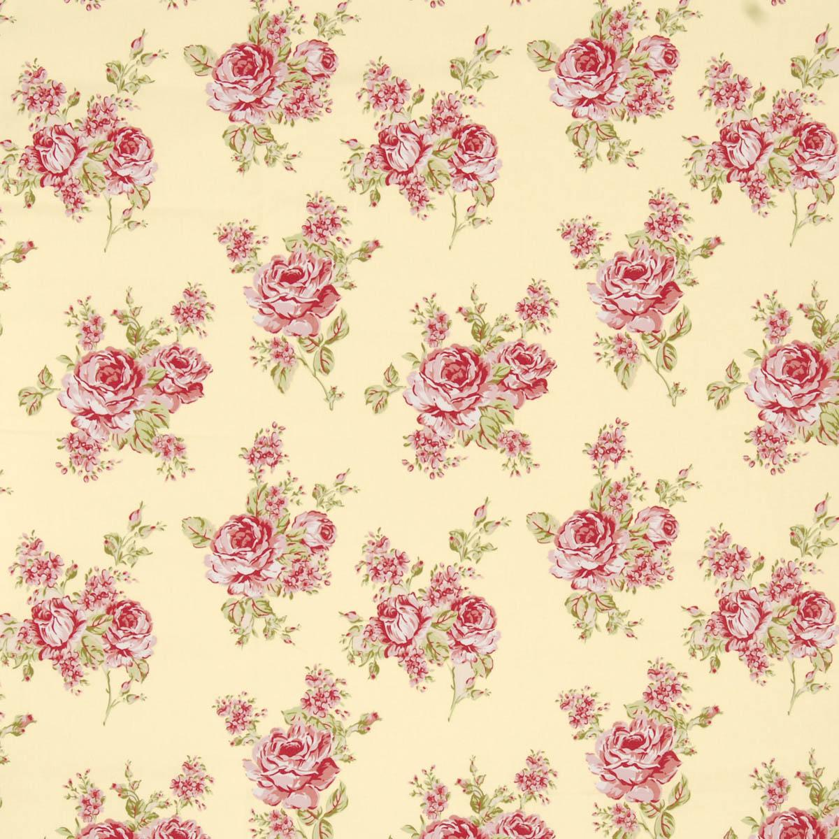 Flora Curtain Fabric Chintz