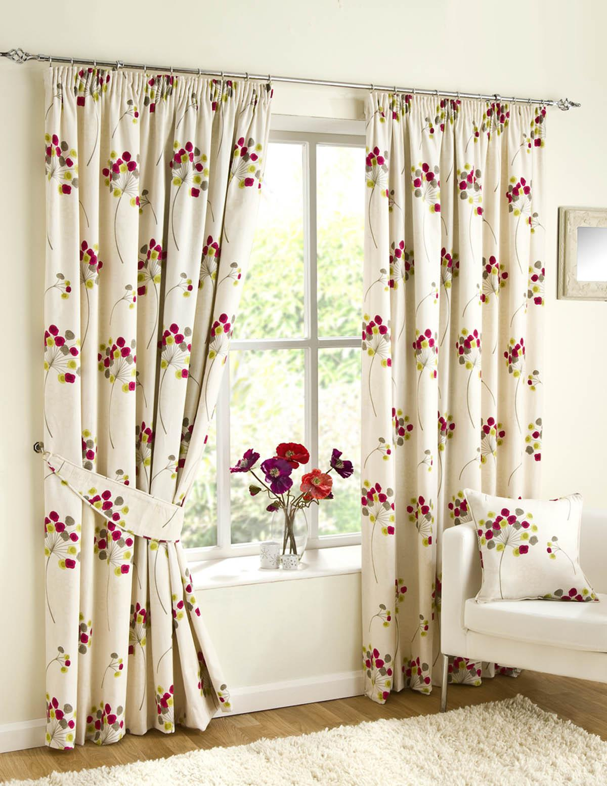 Hot pink curtains 108 inches - Blair Ready Made Lined Curtains