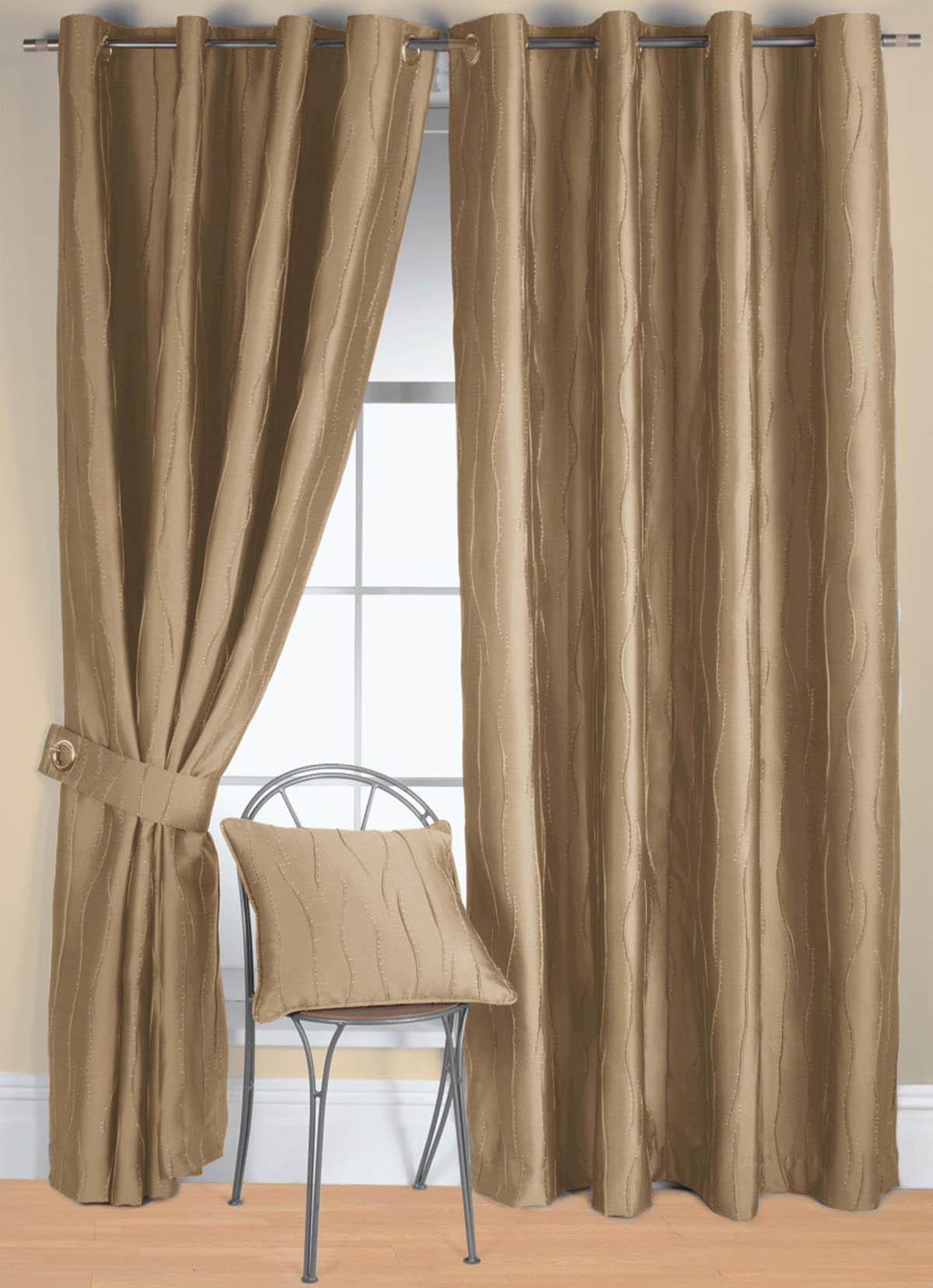 Linen Jazz Ready Made Eyelet Curtain | Free UK Delivery | Terrys ...