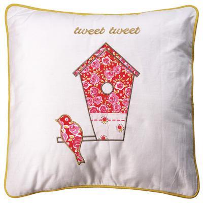 Strawberry (B) Kirstie Allsopp Tweet Feather Filled Cushion