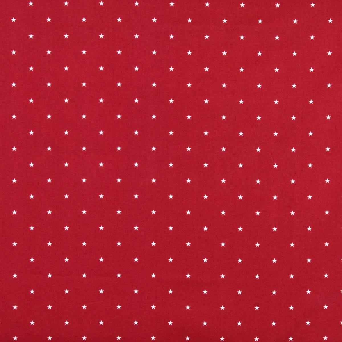Etoile Curtain Fabric Red