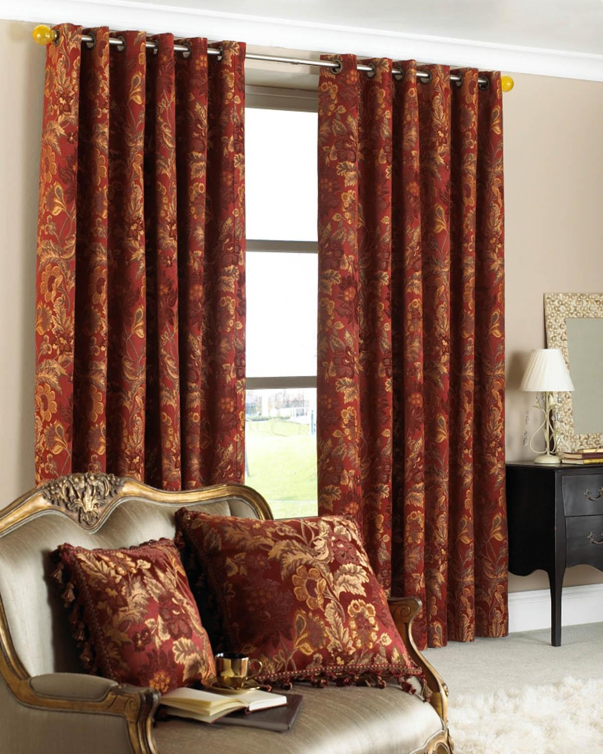 Sloane Ready Made Eyelet Curtains Rust Free UK Delivery