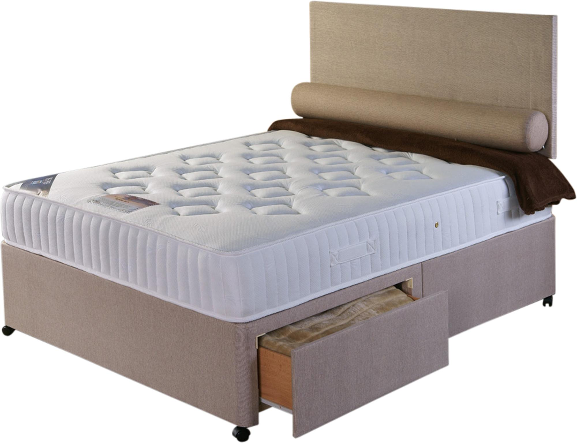 Memorypaedic Bed Set White  Cheap Divan Beds from Terrys