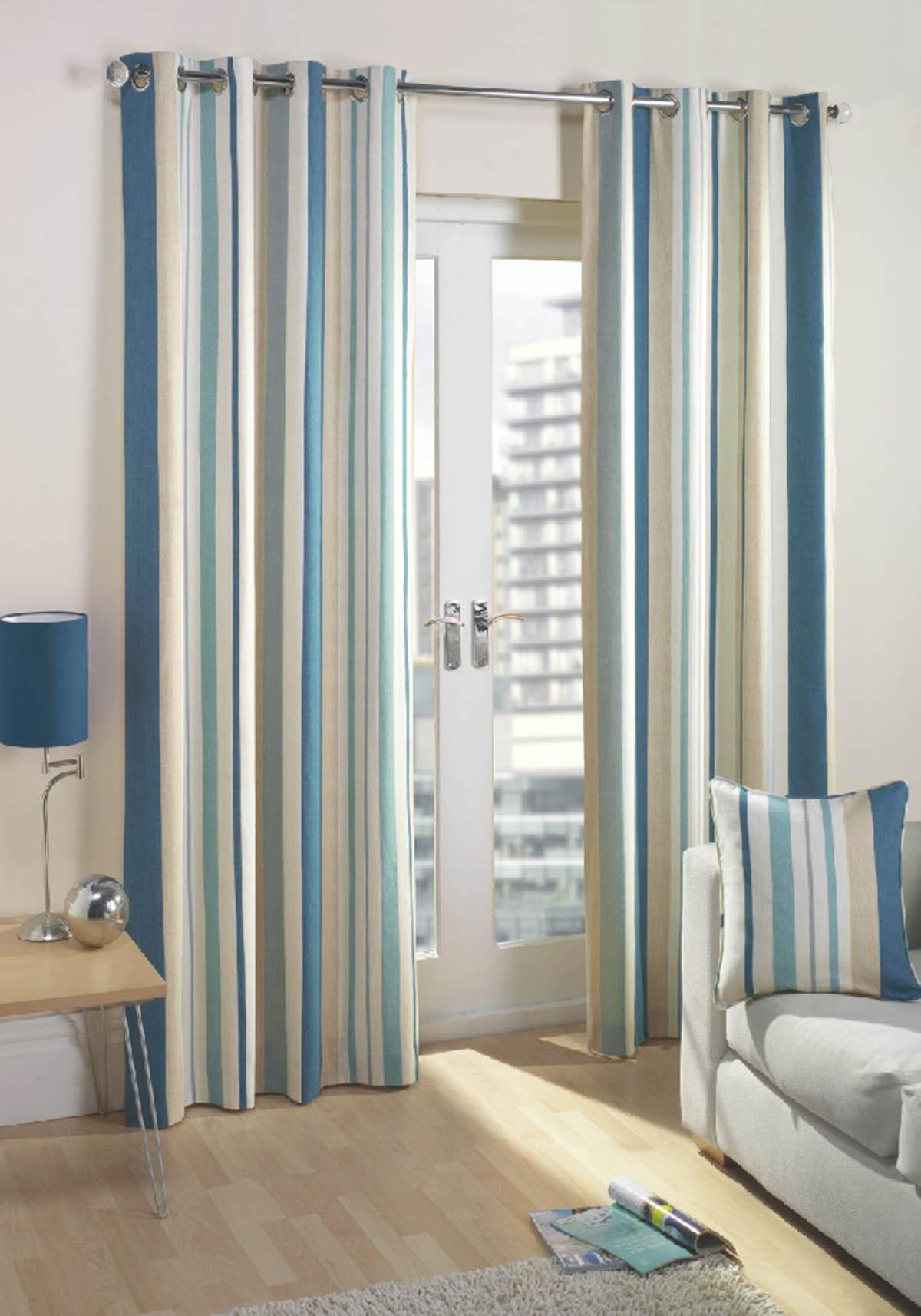 Windsor teal eyelet curtains harry corry limited - Linen Teal Curtain Panel Cb2