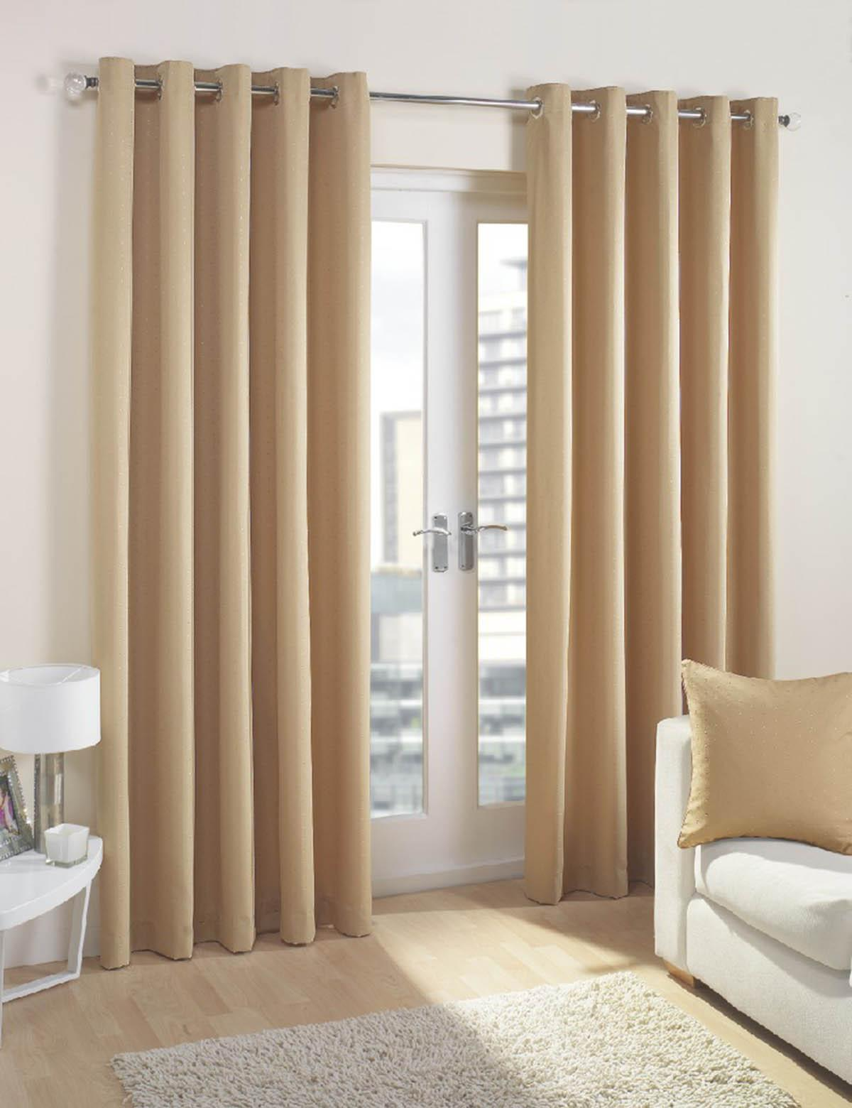 Nice Cuba Ready Made Lined Eyelet Curtains