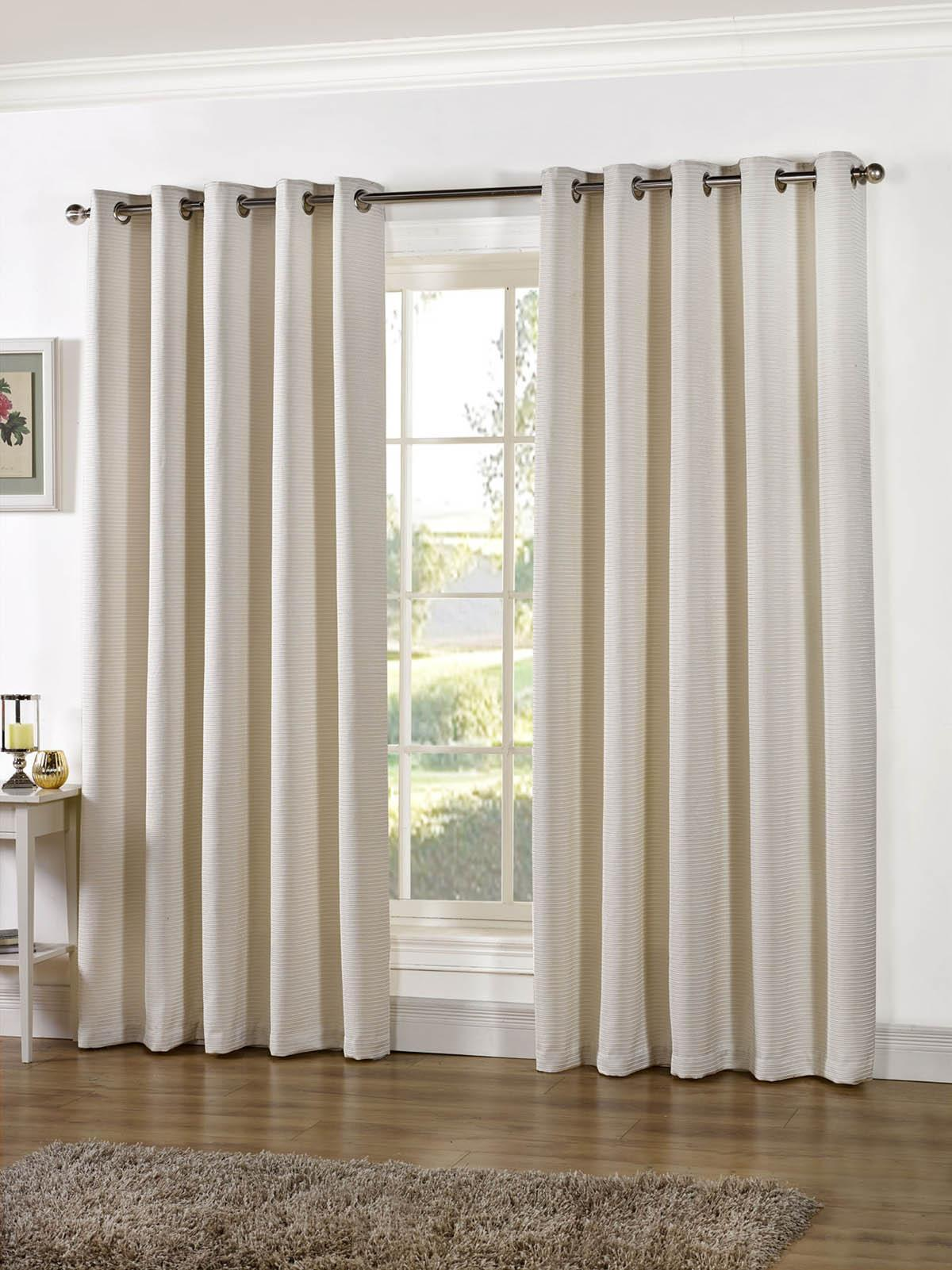 Stella Lined Eyelet Curtains Ivory | Free UK Delivery ...