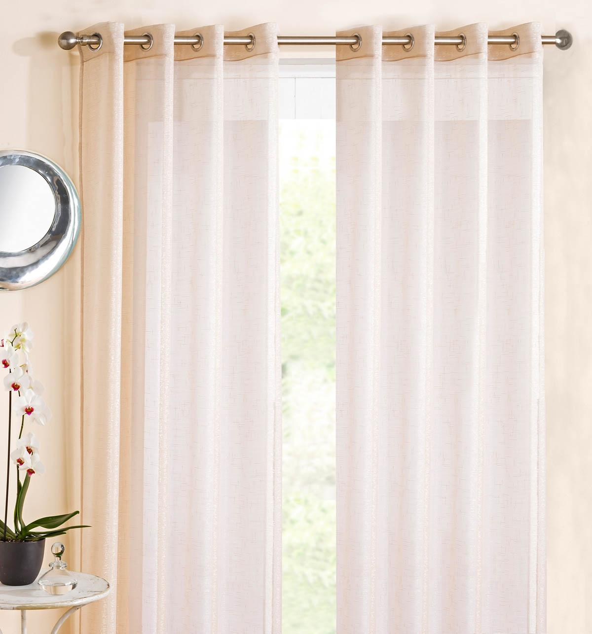 eyelet voile panel cream affordable curtain voiles uk delivery