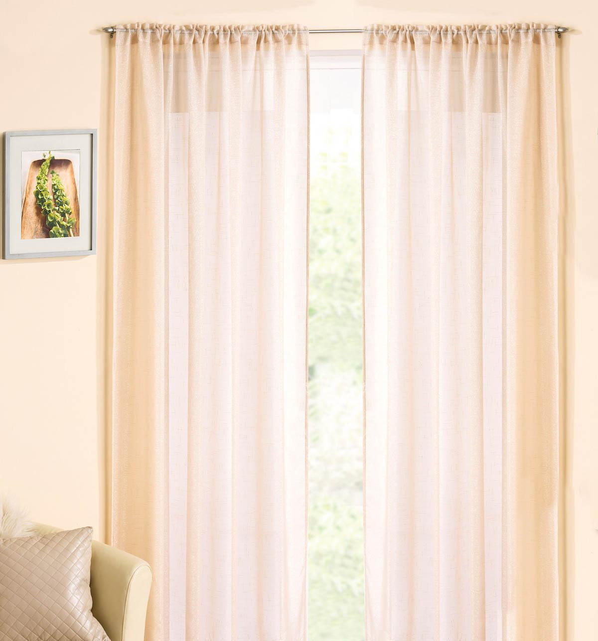 rod pocket voile panel cream affordable curtain voiles uk delivery