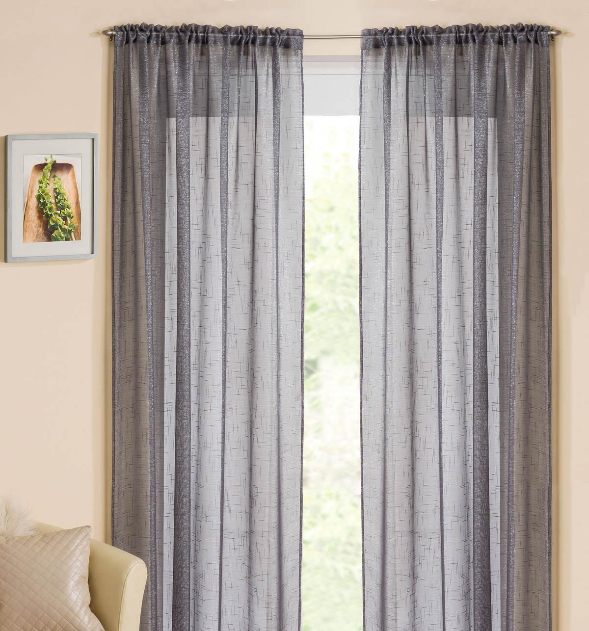 Casablanca Rod Pocket Voile Panel - Silver Bedroom Curtains High Quality Window Curtains Terrys
