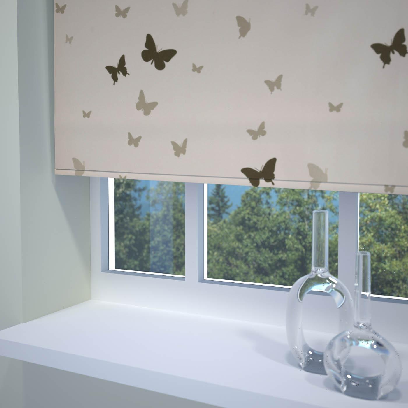 Roller blinds for bathrooms uk - Butterfly Roller Blind