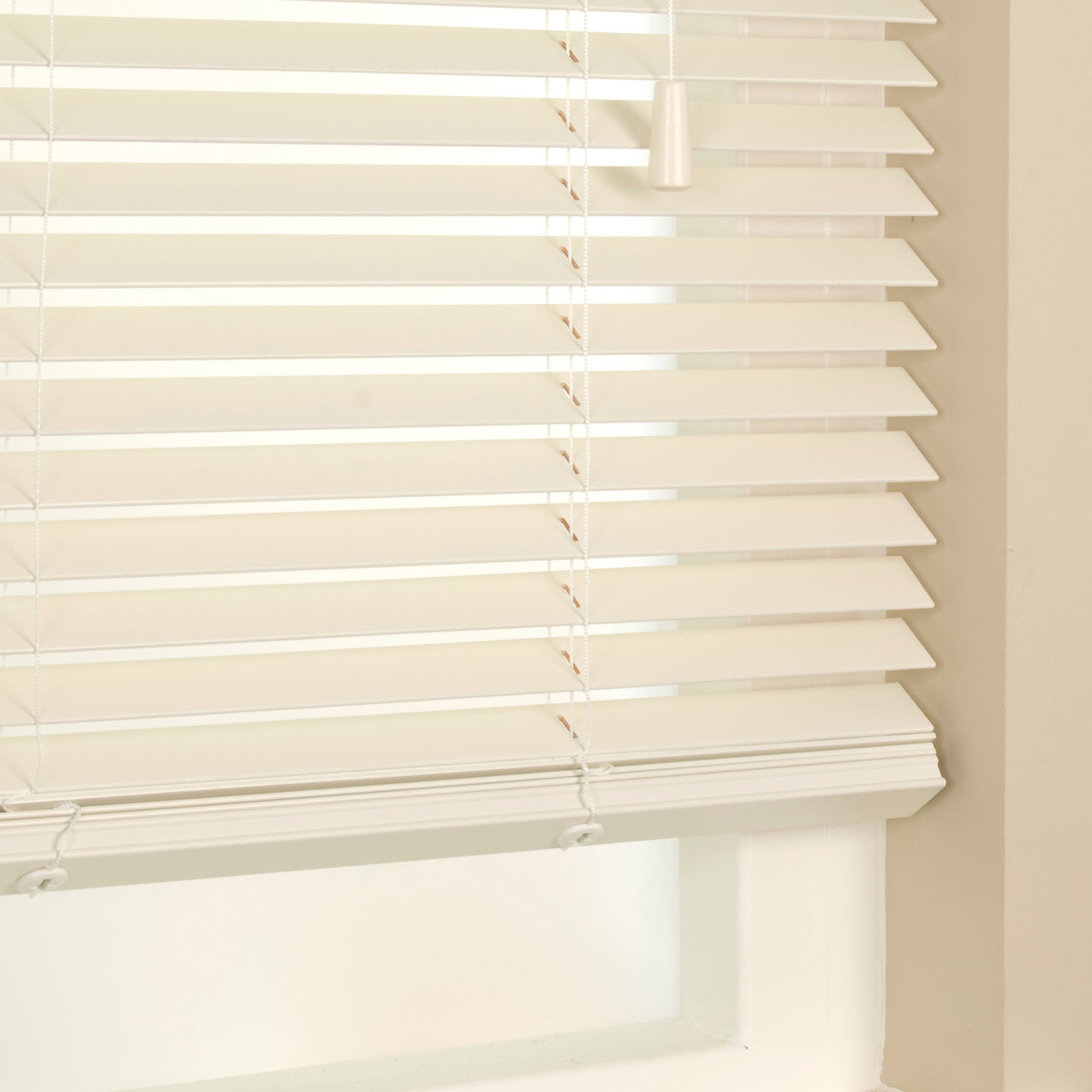 Cafe curtains bathroom - 35mm Primary Wood Venetian Blinds Off White