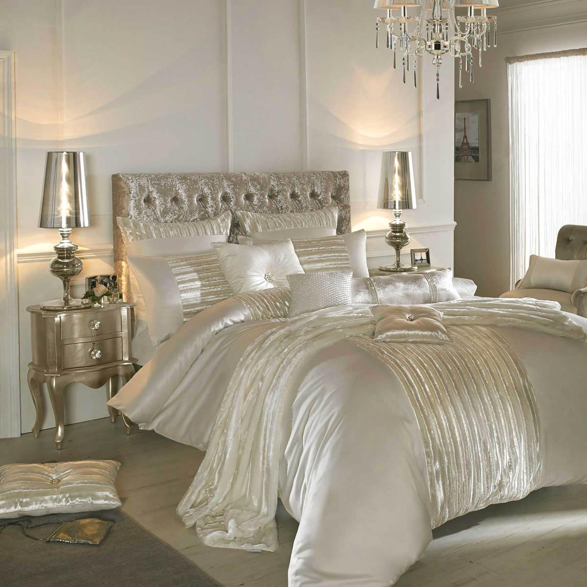 Kylie Minogue Luette Bedding Oyster Free UK Delivery