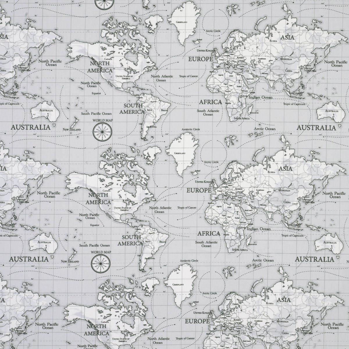Maps curtain fabric grey great range of affordable curtain maps curtain fabric sciox Choice Image