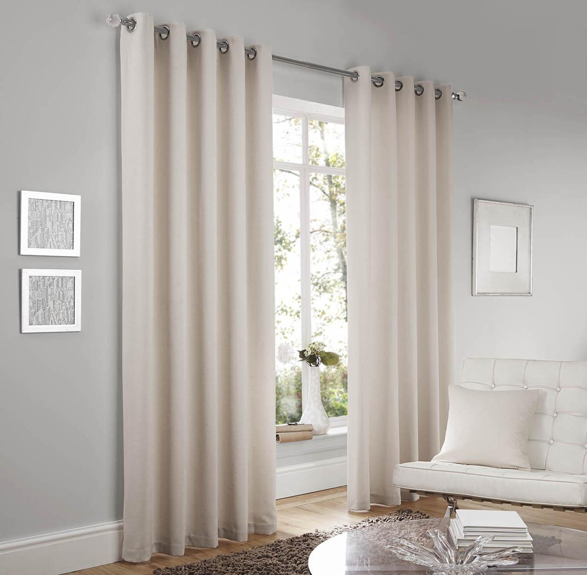 White Eyelet Curtains Uk Part - 23: Lincoln Ready Made Eyelet Curtains