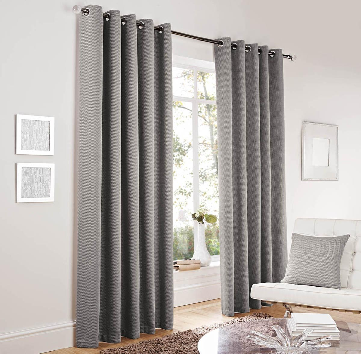 Lincoln Eyelet Curtains Silver Free Uk Delivery Terrys